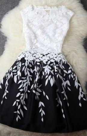 Black & White Cocktail Dress