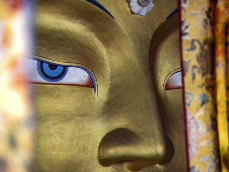 Maitreya Buddha, Thikse Monastery. Ladakh, India -