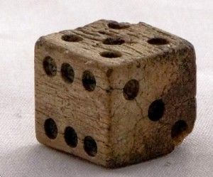 BOARD GAME NIGHT - (play as for twosome poker) - 5,000 year old Persian bone dice, from a backgammon set.