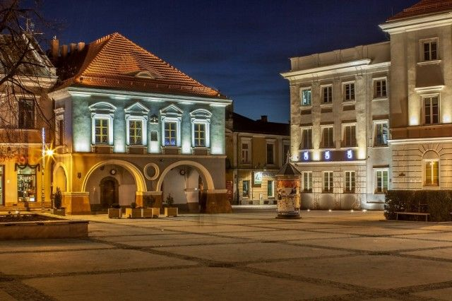 Historic Town Square in Kielce, Poland