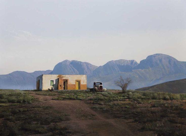 South African Artist Peter Bonney Karoo painting.