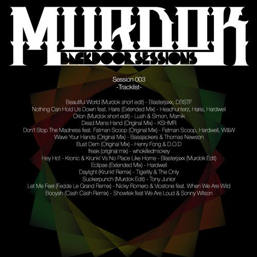 Backdoor Session 003 by MurdoX on SoundCloud