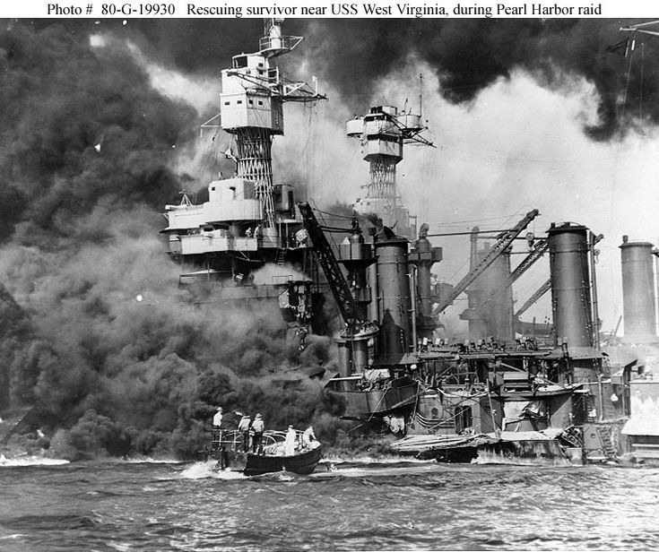 Dec 7, 1941 The Bombing of Pearl Harbor. A day of infamy!