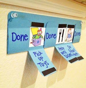 Un modo divertido de marcar las tareas diarias de los peques