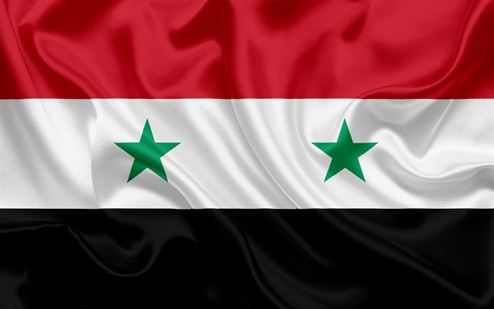 Download wallpapers Syrian flag, Syria, Asia, national flag, Siwolica, flag of Syria