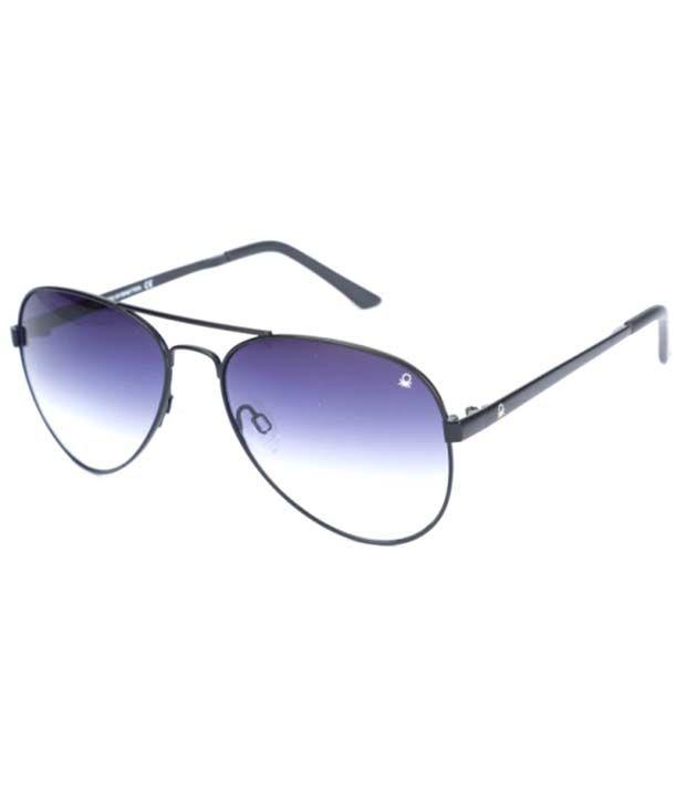 UCB Blue Metal Oval Aviator Eyeglasses For Men