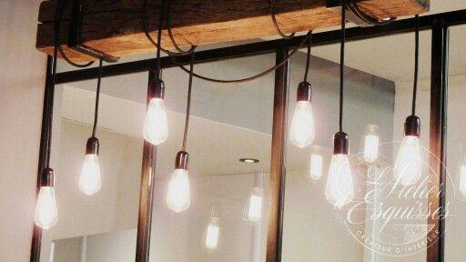 Boulangerie style industriel / factory bakery / factory lights
