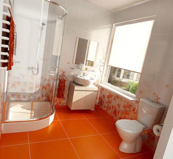 Best Orange Bathroom Design Ideas