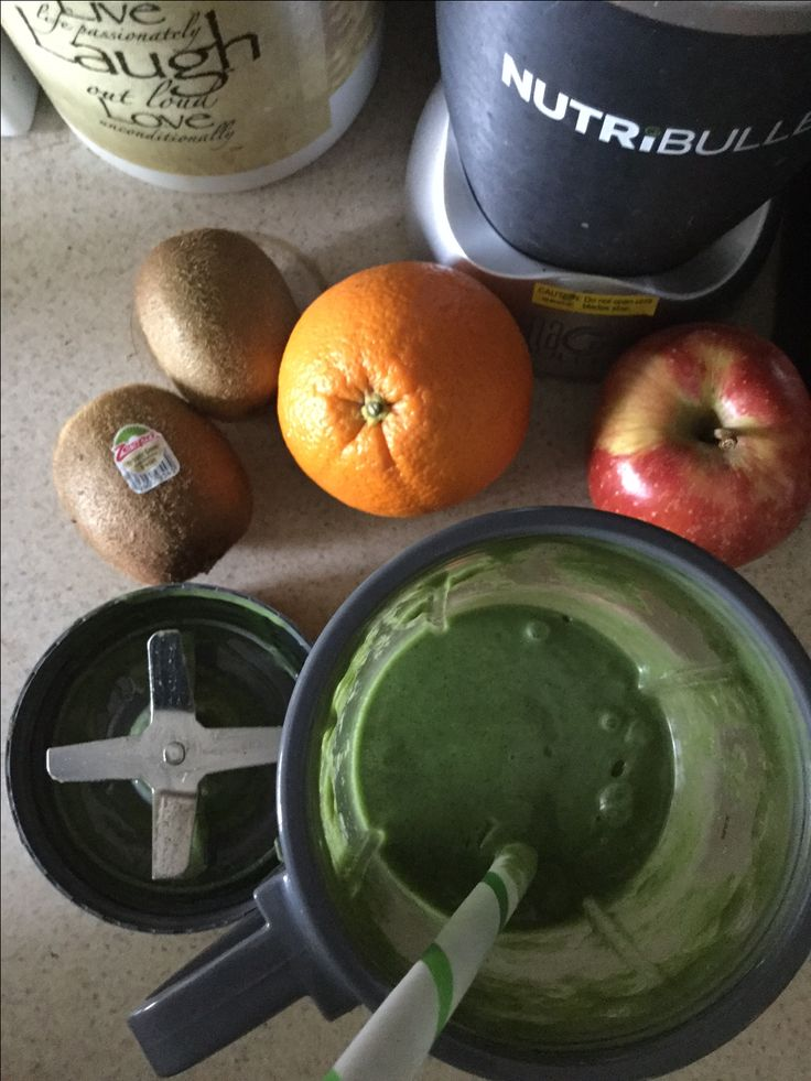 One of my favorite variations for a SUPER-GREEN smoothie: includes kelp, spirulina, wheatgrass powders, hemp protein powder