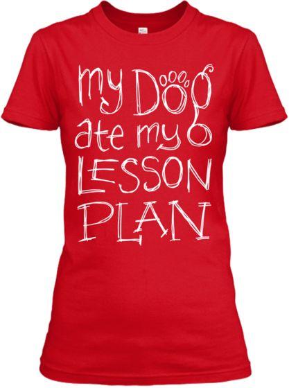 My Dog Lesson Plan | Teespring