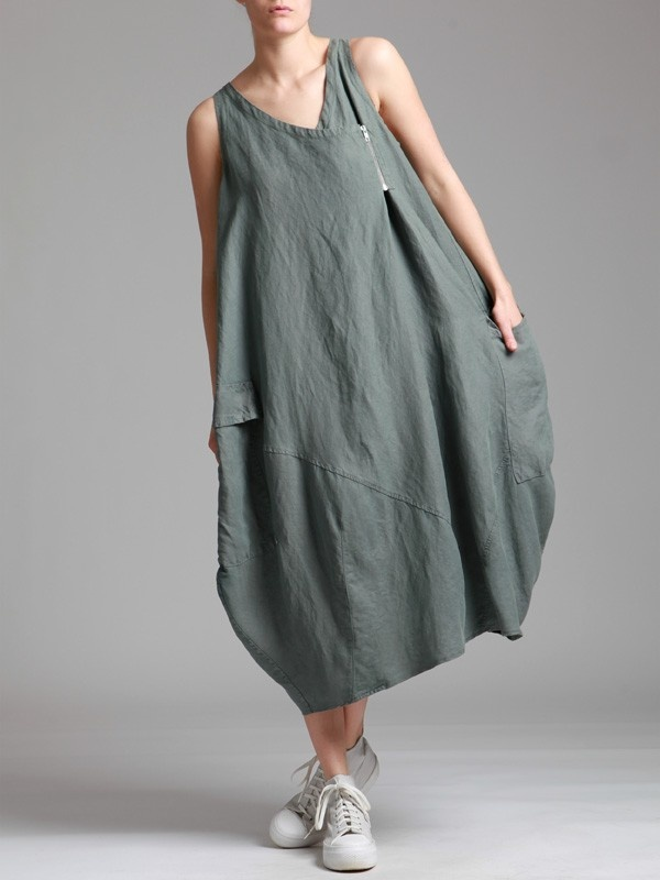TENCEL OVERSIZED BALLOON DRESS - JACKETS, JUMPSUITS, DRESSES, TROUSERS, SKIRTS, JERSEY, KNITWEAR, ACCESORIES - Woman -