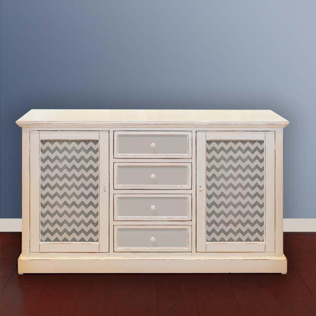 Furniture Stencils | Chevron Furniture Stencil | Royal Design Studio