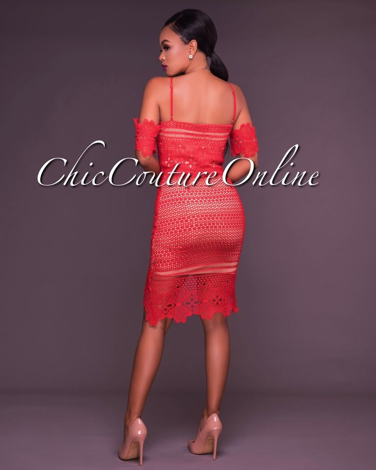 Chic Couture Online - Bobbie Red Nude Crochet Two Piece Set,  (http://www.chiccoutureonline.com/bobbie-red-nude-crochet-two-piece-set/)