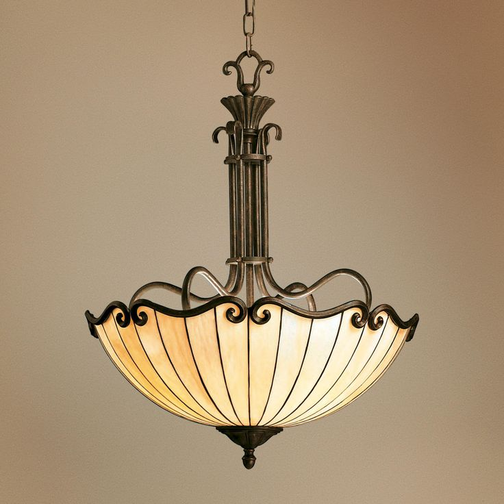 Foyer Lighting Tiffany Style : Art nouveau tiffany style bowl chandelier lighting