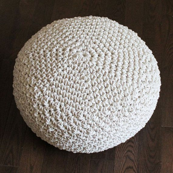 Crocheting Rope : Cotton Rope Pouf Crochet Pattern PDF INSTANT by knotsewcute