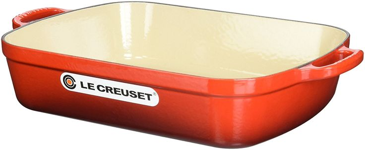 Le Creuset Signature Cast Iron Rectangular Roaster, 5.25-Quart, Cerise (Cherry Red).   Read the rest of this entry » http://cookingblogs.info/cooking/le-creuset-signature-cast-iron-rectangular-roaster-5-25-quart-cerise-cherry-red/ #525Quart, #CeriseCherryRed, #LeCreusetOfAmerica, #LeCreusetSignatureCastIronRectangularRoaster, #LS20113367 #Cooking