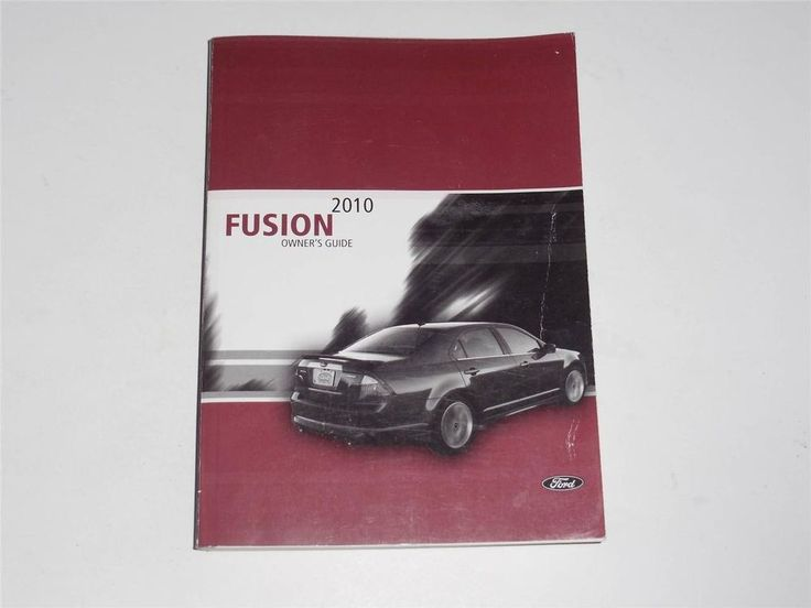 2010 Ford Fusion Owners Manual Book