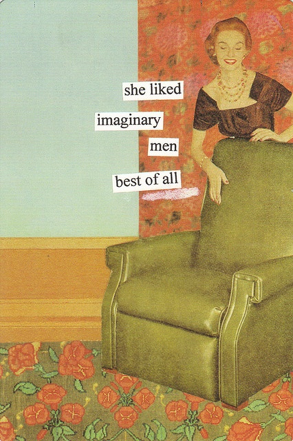 Imaginary men Vintage retro funny quote