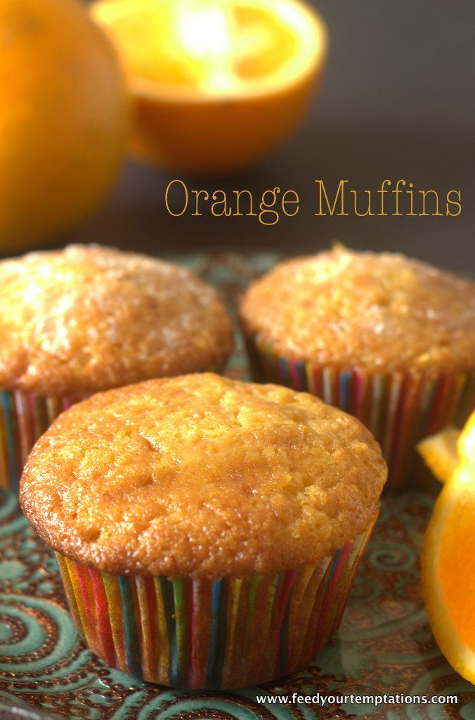 Fresh Orange Muffins - As Orangy an orange muffin can get. Recipe: http://www.feedyourtemptations.com/fresh-orange-muffins/