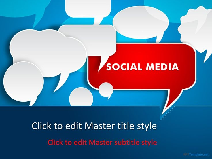 Best Social Media Ppt Templates Images On   Ppt