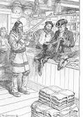 In the early days of the fur trade aboriginals were ripped off, they were usually only given only trinkets and baubles for their fur.