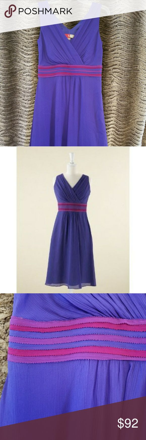 Gorgeous purple Boden  dress 6R EUC This is the most gorgeous shade of purple! Colour block Party Dress-WH196-Below Knee - Boden Retails: $198 Size 6R Boden Dresses