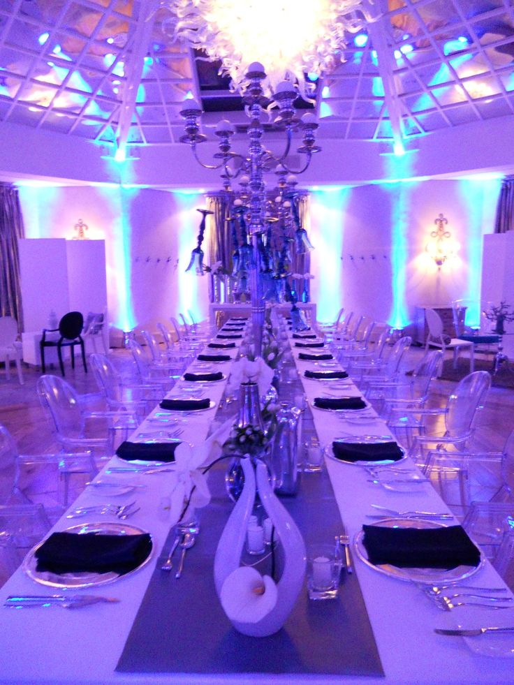 #Dinner evening setup long table for Volvo media launch #LiveOutLoudevents
