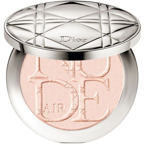 Dior Diorskin Nude Air Luminizer Powder ($56) ❤ liked on Polyvore featuring beauty products, makeup, face makeup, face powder, pink glow, christian dior, mineral face powder, powder brush, shadow brush and mineral powder brush