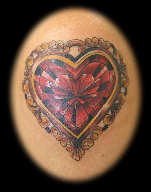 17 best images about jewelry tattoos on pinterest ankle for Diamond heart tattoo