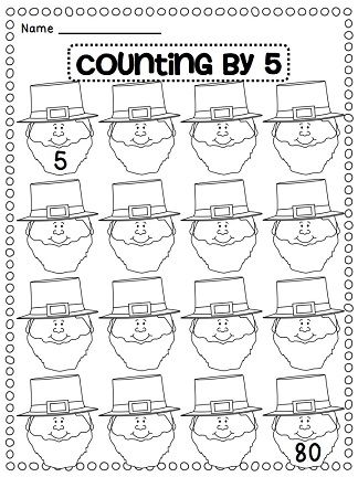 Counting by 5s leprechauns