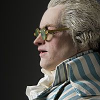 Right closup color image of Maximilien Robespierre aka. President of the National Convention, by George Stuart.