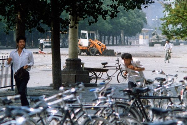 107.) This is a completely different view of the Tank Man of Tiananmen Square.