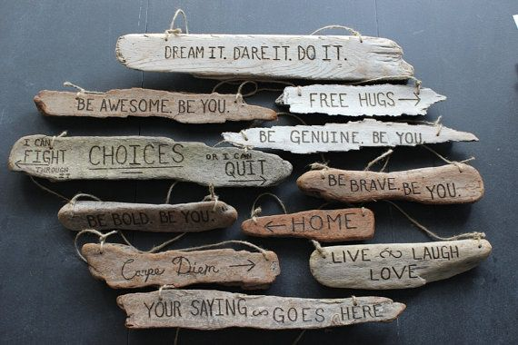 Driftwood Custom Sign  one wood burned sign di DestinationTree