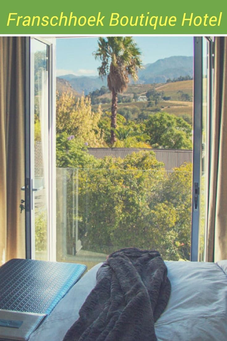 Franschhoek South Africa is a wonderful destination in the Cape Winelands for wine, food and beautiful scenery. But where to stay? The Franschhoek Boutique Hotel offers an ideal base for exploring the area and total comfort when you need a break.
