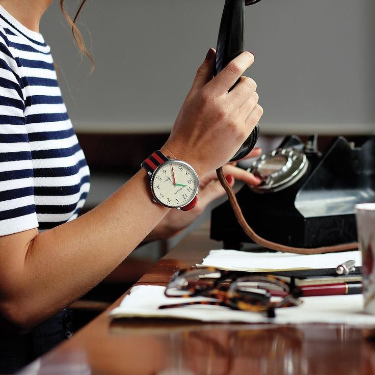 Hanging on the telephone with the Club watch in red and navy. #workspace #accessoryaddict #watches #newgatewatches #workstyle