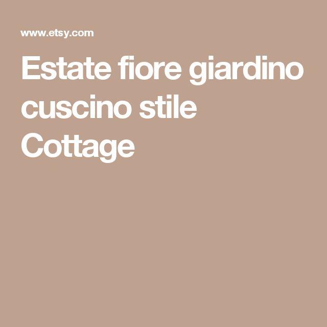 Estate fiore giardino cuscino stile Cottage