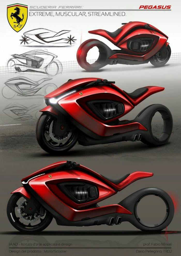 What do you think about this Ferrari concept bike? - 9GAG