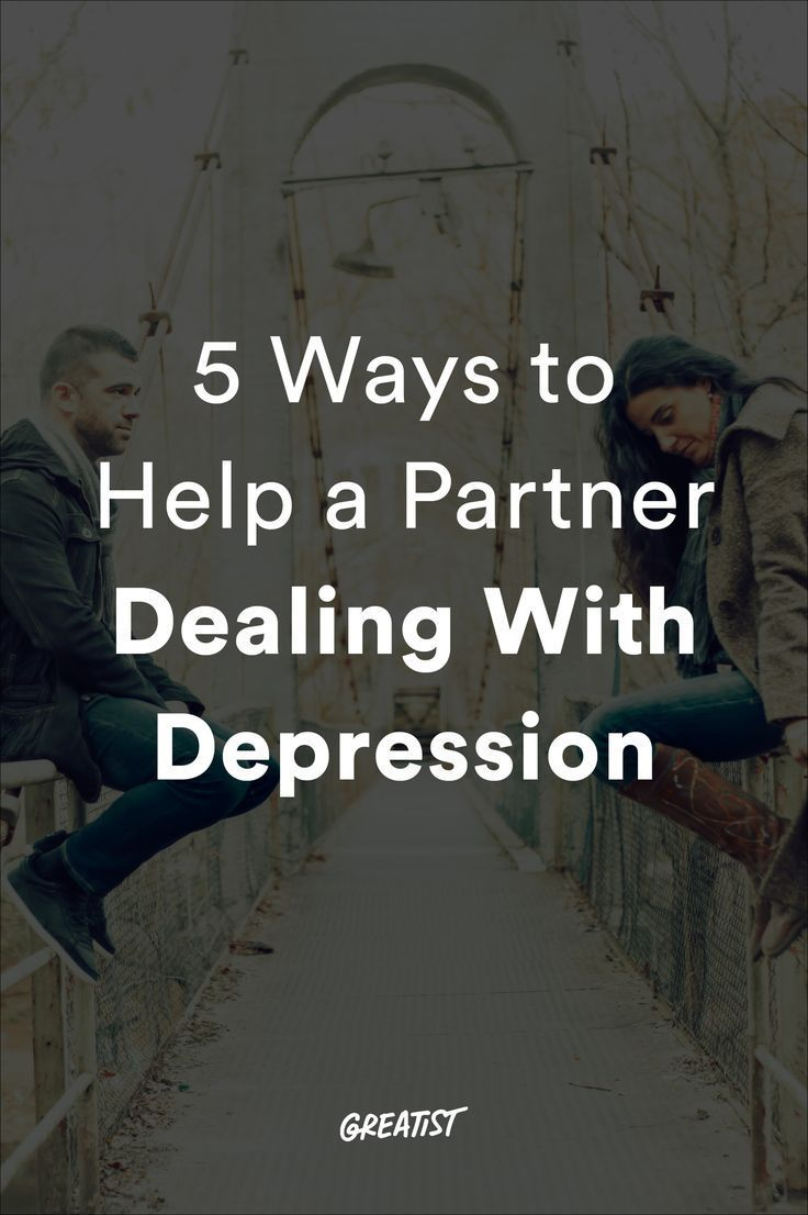 dont know how to help partner with depression