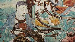Pipa player dunhuang1 - Yulin Caves - Wikipedia, the free encyclopedia