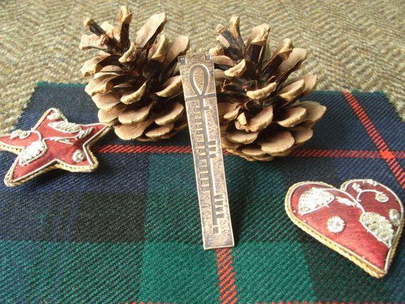 Bronze Scottish Kilt Pin   Ogham with by CallumKiltsJewellery