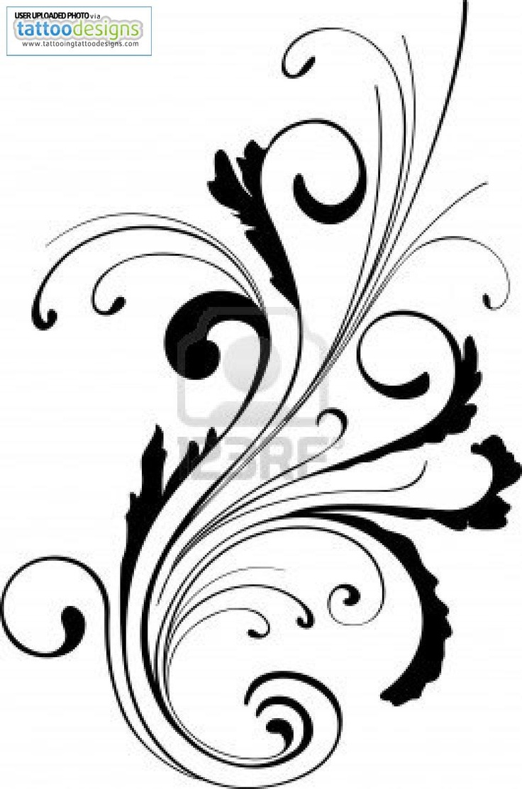 Thinking about maybe some scrollwork coming out of maybe a single rose or a couple roses for my thigh tattoos