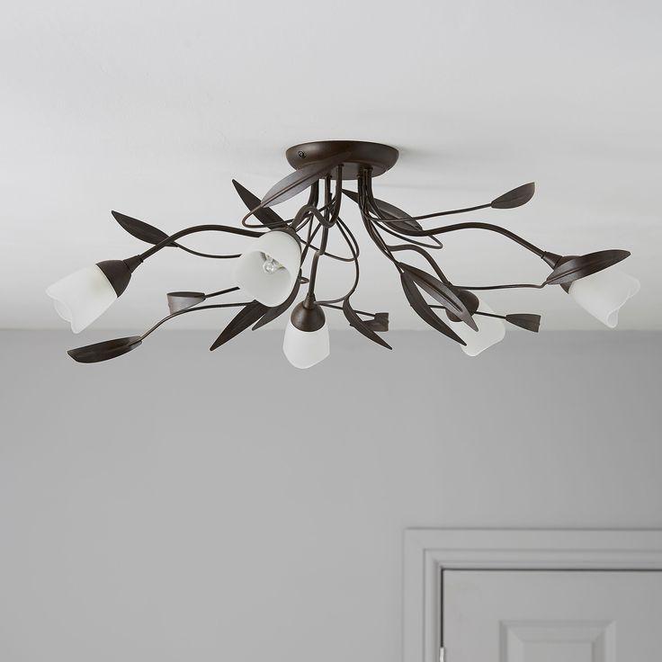 Cloe Bronze Effect 5 Lamp Ceiling Light