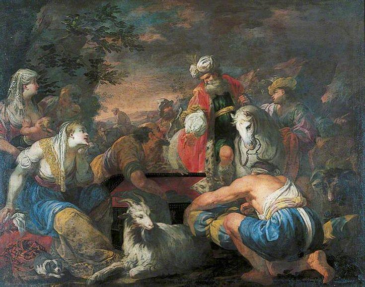 Laban Seeking His Idols, Antonio Bellucci