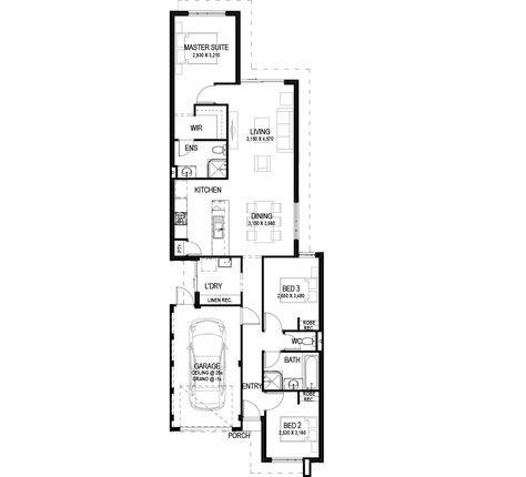 The York floorplan by Commodore Homes Floorplan