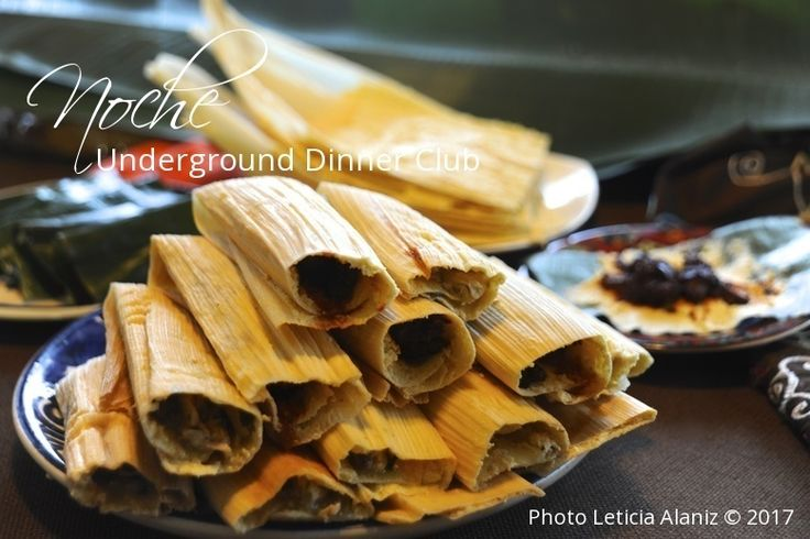 Noche Underground Dinner Club celebrates the end of 2017 with Tamales de Mole Negro.  The Mole Negro is ground in moliendas in Oaxaca, Mexico.  It's one of the most complex moles with over 34 ingredients.