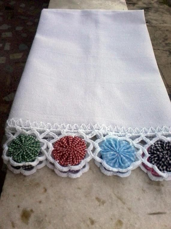 ~ Yo Yo & Crocheted Edging ~