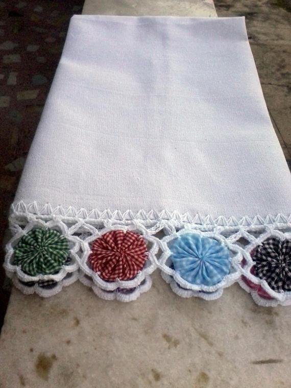 ~ Yo Yo & Crocheted Edging ~