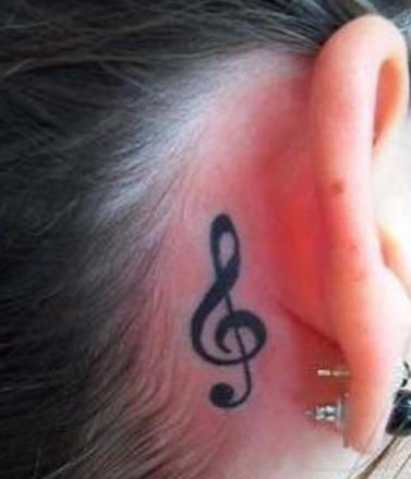 small music tattoo