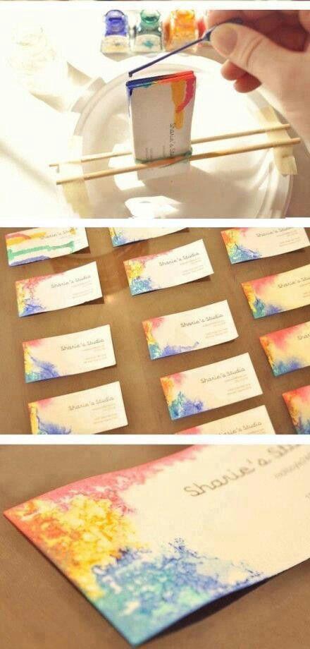 Unique business cards: DIY business cards. Pretty