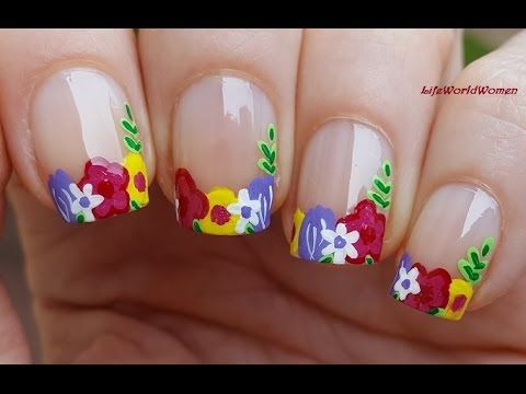 Sponge Nail Art Beginner Technique Rainbow Stripes Diy Nails Design Full Tutorial
